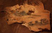 ink wood etching